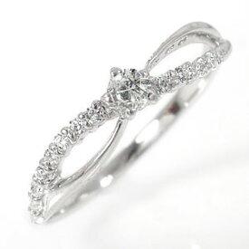 【送料無料】流れ星リング 18金 ダイヤモンド 結婚指輪 婚約指輪 エンゲージリング ピンキーリング レディース ユニセックス 誕生日 2017 記念日 贈り物 母の日 プレゼント ギフト Lucia ルチア