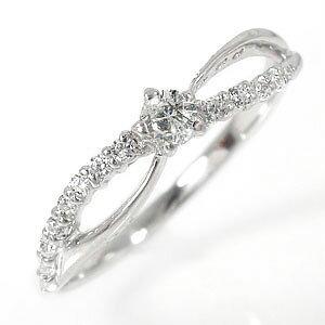 流れ星リング 18金 ダイヤモンド 指輪 ピンキーリング レディース ユニセックス 誕生日 2021 記念日 贈り物 プレゼント ギフト Lucia ルチア4月 誕生石 送料無料