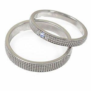 タンザナイト リング プラチナ 誕生石 ミルグレイン 2本セット 結婚指輪 ペア 指輪 マリッジリング ピンキー レディース メンズ セット価格 送料無料
