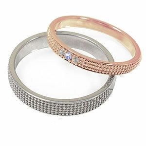 18金 タンザナイト マリッジリング 誕生石 ミルグレイン 2本セット 結婚指輪 ペア 指輪 レディース メンズ セット価格 送料無料