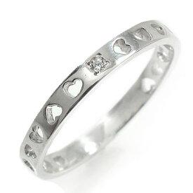 【あす楽対応商品】ハートエタニティーリング 指輪【k18ホワイトゴールド】【サイズ6.5号】 送料無料 キャッシュレス ポイント還元