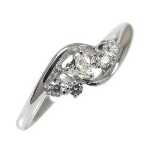 ポイント5倍 9日20時〜16日1時まで ダイヤモンド リング プラチナ 絆 ピンキー 指輪 ハート 誕生石送料無料 母の日 花以外 買いまわり 買い回り
