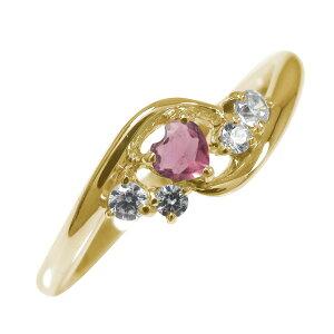 ポイント5倍 9日20時〜16日1時まで 絆 10金 ピンクトルマリン ダイヤモンド ハート 誕生石 ピンキーリング 指輪送料無料 母の日 花以外 買いまわり 買い回り
