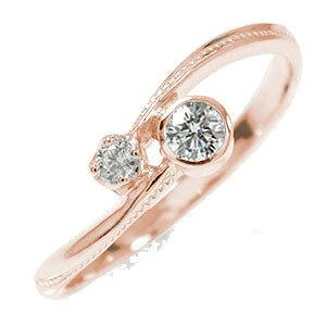 【送料無料】ピンキーリング 18金 ダイヤモンド 満月 クール 結婚指輪 婚約指輪 エンゲージリング 誕生石