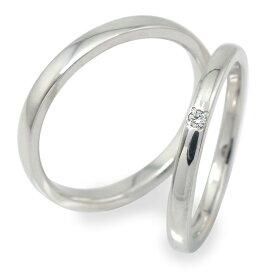 プラチナ ダイヤモンド ペアリング マリッジリング 指輪 誕生石 2本セット 結婚指輪 レディース メンズ セット価格 【送料無料】