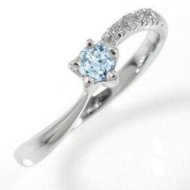 指輪 プラチナ アクアマリン ダイヤモンド 流れ星 ピンキーリング ギフト 記念日 母の日 プレゼント プレゼント 誕生日プレゼント 大切な方に ファッションリング 送料無料 キャッシュレス ポイント還元