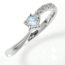 ブルームーンストーンリング プラチナ 指輪 ダイヤモンド 流れ星 ピンキーリング ファッションリング 送料無料 キャッシュレス ポイント還元
