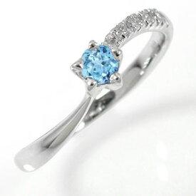 ピンキーリング 10金 流れ星 ダイヤモンド 指輪 ブルートパーズリング ファッションリング 送料無料 キャッシュレス ポイント還元