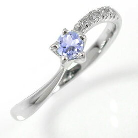 【あす楽対応商品】プラチナリング タンザナイト 流れ星 指輪 ダイヤモンド ピンキーリング 【サイズ6号】 送料無料 キャッシュレス ポイント還元