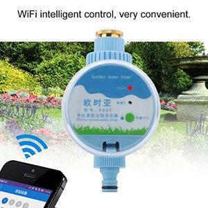 Acogedor 散水タイマー、自動散水タイマー、電子灌漑タイマー、WiFiインテリジェント制御、耐熱性と実用性に優れる、庭園や芝生やバルコニーなどに向け。