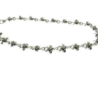 Hawaiian jewelry mini-frangipani change of color prevention processing ロジュームコーティングブレスレット