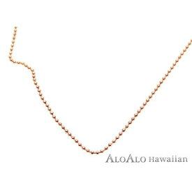 ハワイアンジュエリー ネックレス チェーン 14K ピンクゴールド ダイヤカットチェーン 40cm レディース ゴールド