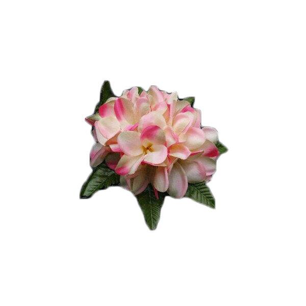 ハワイアン ヘアクリップ フラ フラダンス衣装 リアルプルメリアヘアクリップ Lサイズ ピンク