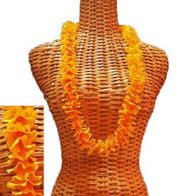 ハワイアン レイ フラ フラダンス衣装 フラワーレイ 細めの可愛らしい プアケニケニレイ オレンジ