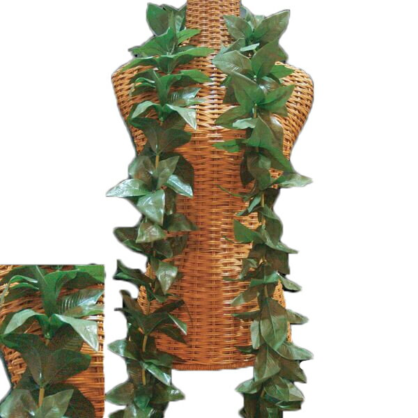 ハワイアン レイ フラ フラダンス衣装 フラワーレイ 濃いグリーンのしっかりした アロハマイレオープンレイ