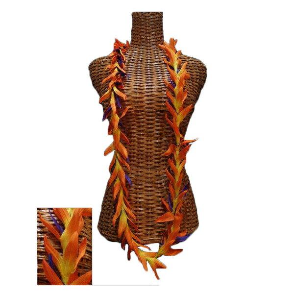 ハワイアン レイ フラ フラダンス衣装 フラワーレイ バードオブパラダイスロングレイ