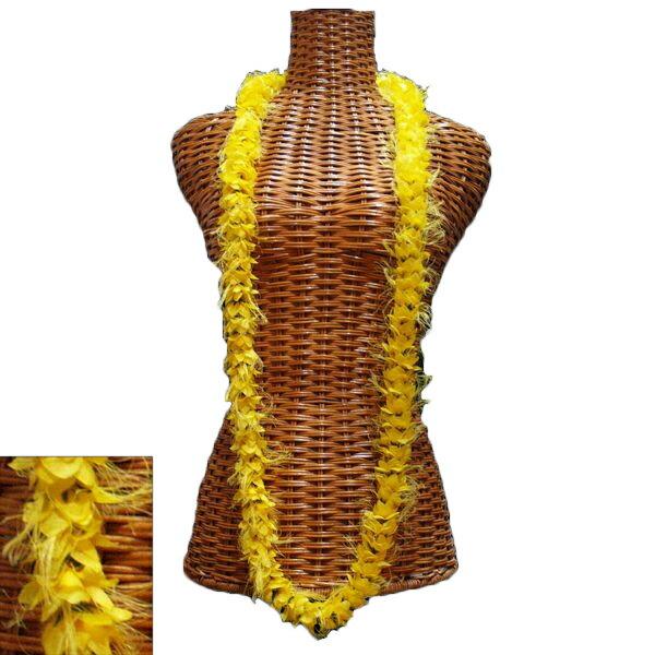 ハワイアン レイ フラ フラダンス衣装 フラワーレイ オハイアリイロングレイ イエロー