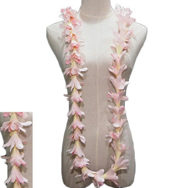 ハワイアン レイ フラ フラダンス衣装 フラワーレイ アイランドチューブローズロングレイ ピンク