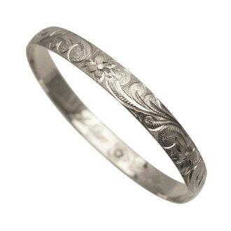 夏威夷人珠宝手镯手镯本格定做银子手镯桶可靠的1.75mm厚8mm能选的设计以及样式人分歧D Fra手雕刻刻图章夏威夷制造袖口银子925 5.5英寸~9英寸订货