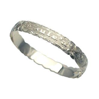 夏威夷人珠宝手镯手镯若干本格定做银子手镯桶偏淡的1.5mm厚10mm能选的设计以及样式人分歧D Fra手雕刻刻图章夏威夷制造袖口银子925 5.5英寸~9英寸订货