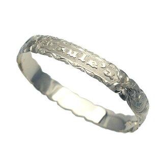 夏威夷人珠宝手镯手镯本格定做银子手镯桶稳重的2.0mm厚10mm能选的设计以及样式人分歧D Fra手雕刻刻图章夏威夷袖口银子925 5.5英寸~9英寸订货