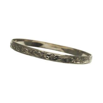 夏威夷人珠宝手镯手镯本格定做银子手镯桶稳重的2.0mm厚6mm能选的设计以及样式人分歧D Fra手雕刻刻图章夏威夷袖口银子925 5.5英寸~9英寸订货