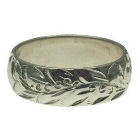 ハワイアンジュエリー リング 指輪 オーダーメイド 1.75mm厚 幅6mm スターリングシルバー925 バレルリング ハワイ製 手彫りリング メンズ レディース 結婚指輪 マリッジリング ウェディングリング 2号-28号