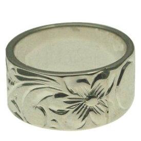 ハワイアンジュエリー リング 指輪 オーダーメイド 1.75mm厚 幅10mm スターリングシルバー925 フラットリング ハワイ製 手彫りリング メンズ レディース 結婚指輪 マリッジリング ウェディングリング 2号-28号