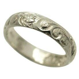 ハワイアンジュエリー リング 指輪 オーダーメイド 1.75mm厚 幅4mm スターリングシルバー925 バレルリング ハワイ製 手彫りリング メンズ レディース 結婚指輪 マリッジリング ウェディングリング 2号-28号