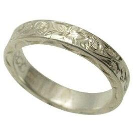 ハワイアンジュエリー リング 指輪 オーダーメイド 1.75mm厚 幅4mm フラットリング メンズ レディース シルバー925 ハワイ製 手彫りリング 0号-28号