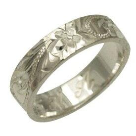 ハワイアンジュエリー リング 指輪 オーダーメイド 1.75mm厚 幅6mm フラットリング メンズ レディース シルバー925 ハワイ製 手彫りリング 0号-28号
