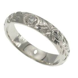 ハワイアンジュエリー リング 指輪 オーダーメイド 1.75mm厚 幅4mm ダイヤ バレルリング メンズ レディース シルバー925 ダイヤモンド ハワイ製 手彫りリング 0号-28号