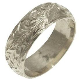 ハワイアンジュエリー リング 指輪 オーダーメイド 1.75mm厚 幅8mm バレルリング メンズ レディース シルバー925 ハワイ製 手彫りリング 0号-28号