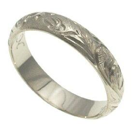 ハワイアンジュエリー リング 指輪 オーダーメイド 1.75mm厚 幅4mm バレルリング メンズ レディース シルバー925 ハワイ製 手彫りリング 0号-28号