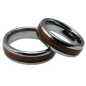 ハワイアンジュエリー ペアリング コアウッド タングステンリング メンズ レディース 指輪 刻印 6mm幅 コアウッド 9号-21号