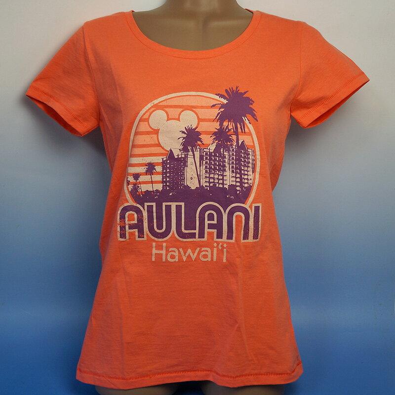 ハワイ限定ディズニー アウラニ Tシャツ 女性用アメリカサイズとなりますので、1つ下のサイズを目安にしてください♪通常の厚さの生地です。