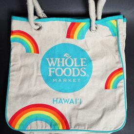 【7000円以上で送料無料!】WHOLE FOODS(ホールフーズ)トート レインボーハワイ限定!かわいいレインボー、虹柄!※商品特性上、ほつれや多少の汚れがついている場合があります。※北海道・九州は1万円以上で送料無料!(沖縄のぞく)