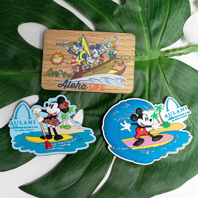 5400円以上で送料無料!ハワイ限定!ディズニー アウラニ ミッキー、ミニー マグネットご希望のデザインをお選びください。※商品特性上、表面に少し汚れが突いている場合がございます。※Aloha Lifeは+500円