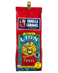 獅子咖啡香草·焦糖7oz(198g)日本限定滋味! 用超过6480日圆♪(沖繩之外的)夏威夷的土特產的經典!夏威夷的味道!