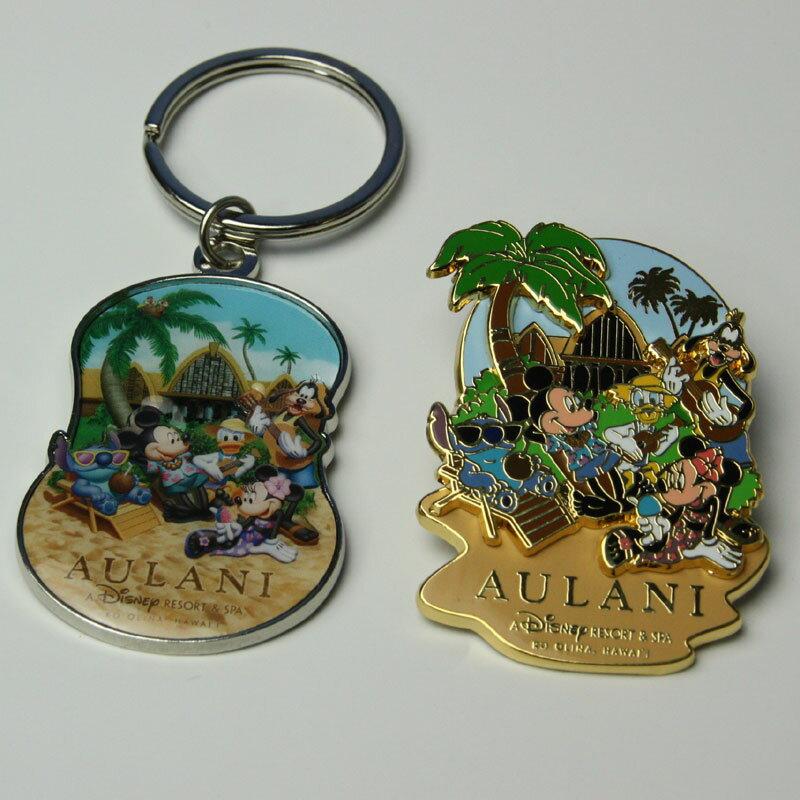 ハワイ限定!ディズニーAULANI(アウラニリゾート) ピンバッジ or キーホルダー 1個※ご希望の種類をお選びくださいませ♪