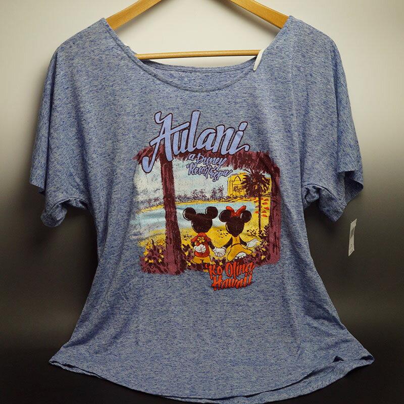 ハワイ限定!ディズニーAULANI(アウラニリゾート)ハワイ限定ディズニー Tシャツ 女性用デザインをお選びください♪アメリカサイズですので、1サイズ下を目安にしてください!日本サイズMの場合はアメリカSサイズ