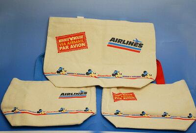 JALの機内販売限定!ディズニー・ミッキー&ミニートートバックセット!
