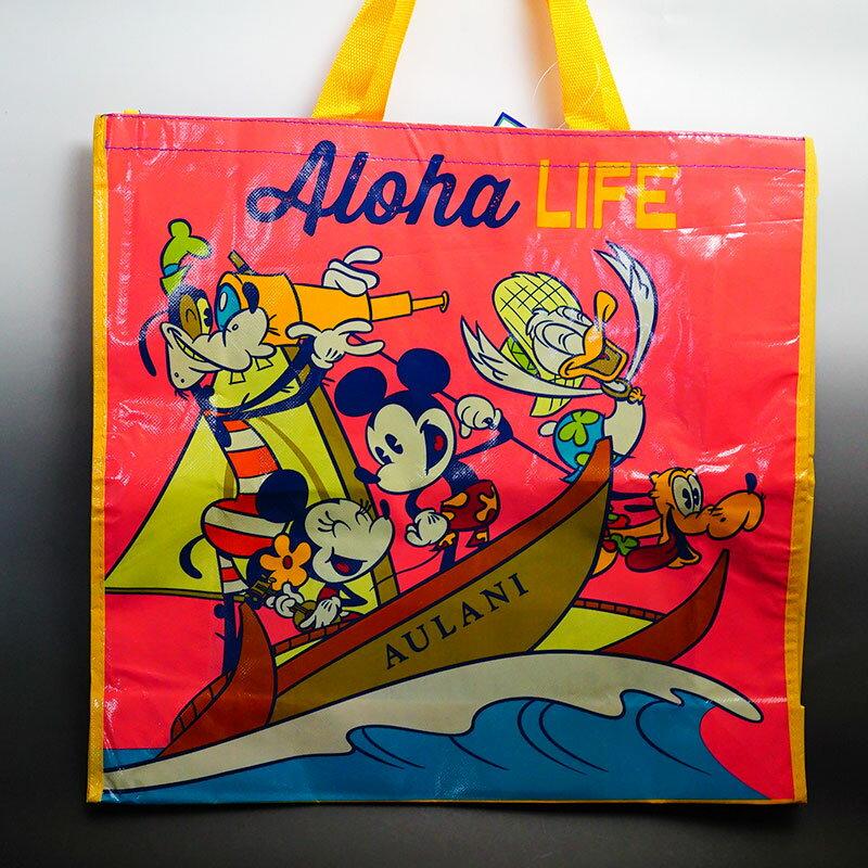エコバッグXL トートバッグ ハワイ限定 ディズニーミッキー&ミニー、ディズニーの大人気キャラクターが勢揃い!