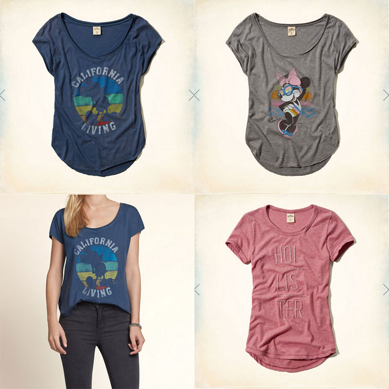 Hollister(ホリスター)Tシャツ 【最新柄】Star Wars(スターウォーズ)ディズニー ミッキー&ミニーコラボ!日本サイズでなく、アメリカンサイズ※ホリスターは全て初回生産のみ!完売後の次回入荷はありません!