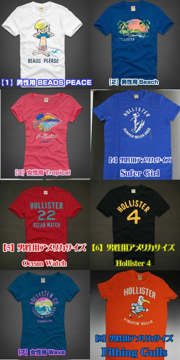 Hollister(ホリスター)Tシャツ【最新柄】日本サイズでなく、アメリカンサイズ※ホリスターは全て初回生産のみ!完売後の次回入荷はありません!