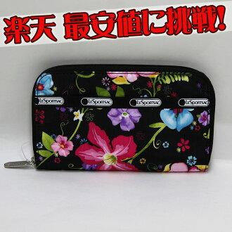 LeSportsac 的 lesportsac! 日本 — —! 热带花卉百合 (钱包) DFS 只! 日本 — — 模型!