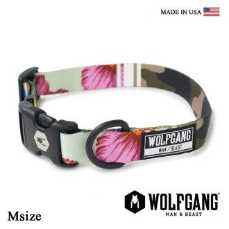 Collar dog dog collar WOLFGANG MAN & BEAST wolf gang STREET LOGIC COLLAR WC-002-072 polyester color [MADE IN USA] collar dog collar くびわ (medium-sized dog)