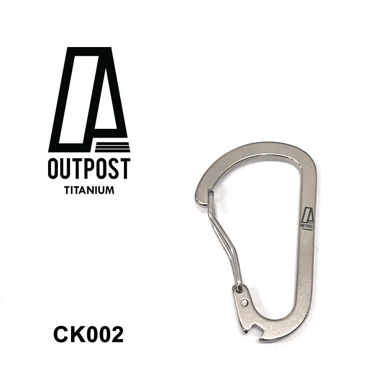 チタン製カラビナ Outpost Titanium [CK002] TOUGH TI CARABINER [メール便]