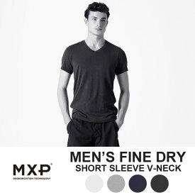 MXP Vネック tシャツ エムエックスピー MX16102 FINE DRY SHORT SLEEVE V-NECK Tシャツ アンダーウェア ゴールドウィン ギフト【WK】