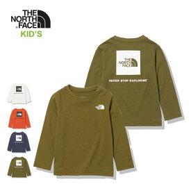 ノースフェイス キッズ ロンT THE NORTH FACE [ NTJ82020 ] L/S SQUARE LOGO T ロングスリーブスクエアロゴティー 長袖Tシャツ [メール便] [210805]